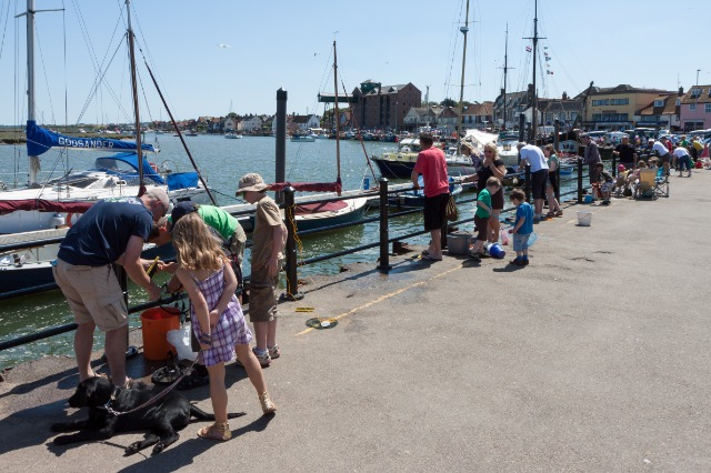 Crabbing at Wells Harbour